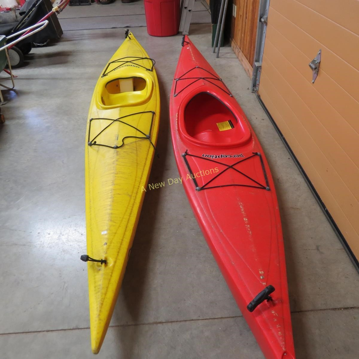 2 Perception Umiak Junior Touring Kayaks | A New Day Auctions