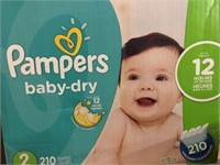 PAMPERS BABY DRY 210 DIAPERS 5-8KG