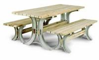 DIY PLASTIC PICNIC TABLE SET 8'X3' (NOT ASSEMBLED)