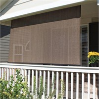 CORDED SHADE WITH PE FABRIC APPROX. 6'X6'