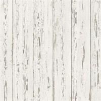 NORWALL WHITE OLD WOOD WALLPAPER WALLART