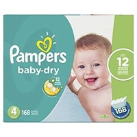 PAMPERS BABY DRY SIZE 4 - 168 PCS