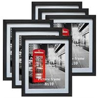 8 X 10 PICTURE FRAMES SET OF 6