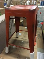 """24"""" BACKLESS METAL STOOL WITH SQUARE"""