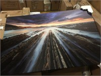"""SUNSET ART WALL PRINT IN CANVAS 26""""X40"""""""