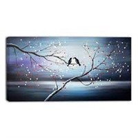 TOGETHER FOREVER LOVE BIRDS' ART ON CANVAS