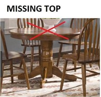 ROUND PEDESTAL TABLE MISSING TOP(BASE ONLY)