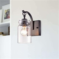 ANTIQUE BLACK 1 LIGHT WALL SCONCE