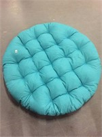 """BLUE OUTDOOR CUSHION/ PILLOW APPRX 52""""D, 5"""" THICK"""