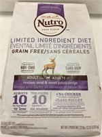 22LBS NUTRO DOG FOOD BEST BEFORE 2019/FEB/21
