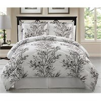 VCNY 8 PIECE REVERSIBLE BLACK AND WHITE BED-QUEEN
