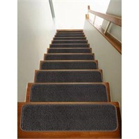 """13 PIECES SOLID CHARCOAL STAIR TREADS 8.5"""" X 26"""""""