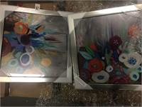 "WALL ART PRINT ON METALLIC FRAME 17""X17"""