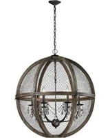 DIMOND HOME LARGE WOOD AND WIRE CHANDELIER