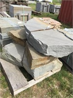 Pallet of (4) Large Natural Cleft Stepping Stones