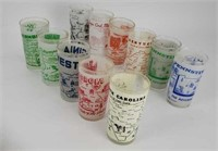 11 Vintage Souvenir State Glasses