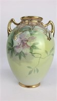 Nippon Hand Painted Vase With Handles