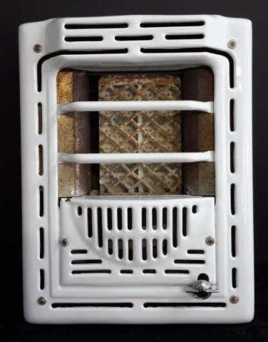 Antique Porcelain Wall Insert Gas Space Heater Asset