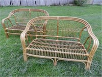 Bamboo love seats, (chair not shown)