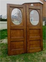 Pair of oak doors, from Chic Westmount apartment