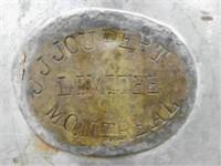 J.J. Joubert Limitée Montréal milk can