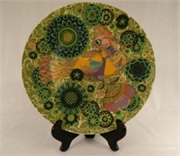 """Rosenthal  charger with colourful bird, marked """"Produced in Jubilee Year"""", Germany"""