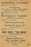 Houdini, Harry. Postcard, The Grim Game