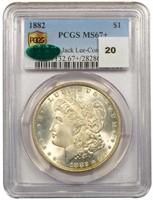 $1 1882 PCGS MS67+ CAC EX JACK LEE