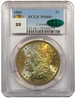 $1 1883 PCGS MS68+ CAC CORONET COLLECTION