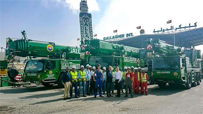 Liebherr Sells Five More Mobile Cranes To Gallagher Of Dubai