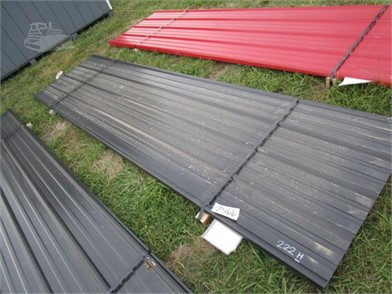 12' BLACK METAL SHEETS PER SHEET Other Auction Results - 2