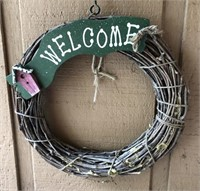 Decorative Items On Front Porch  Includes