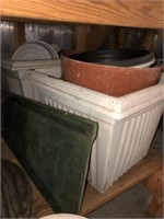 Large Lot Of Flower Pots And More