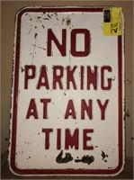 Heavy Metal Embossed No Parking Sign