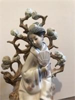 "Lladro no. 4807  ""Geisha "" Figurine"