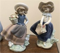 "Lladro no. 5221 & 5222  ""Sweet Scent"" and ""Pretty"
