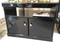 TV Stand With VHS Player and More