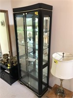 Glass Lighted Curio Cabinet