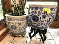 Large Asian Style Flower Pot