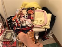 Contents Of Closet  Includes Blankets, scarfs,