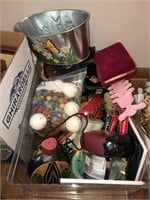 Box lot of Decorative Items and More  Lot