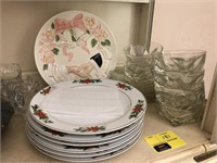 Lot of Glassware , Silverplate, and More