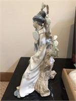 "Lladro no. 4807  ""Geisha"" Figurine Has Repair"