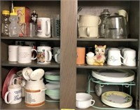 Lot Of Mugs Plates And More