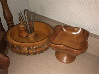 Lot Of Wooden Decorative Kitche / Dining Items