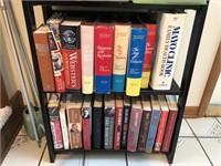Decorative Bookshelf with Books