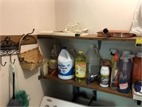 Shelf Contents  Includes Cleaning Supplies,