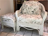 Rattan Chair With Ottoman