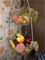 Lot Of Decorative Faux Fruit Display