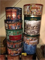 Large Lot Of Tins And Cabinet